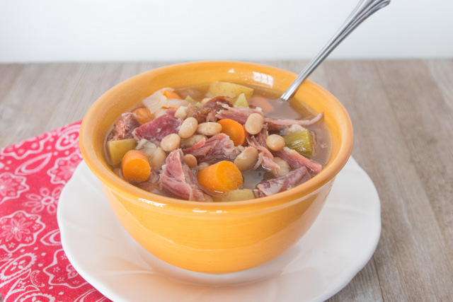 Darcy's Hearty Iowa Ham and Bean Soup