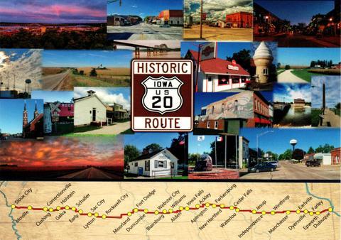 Historic Highway 20 postcard