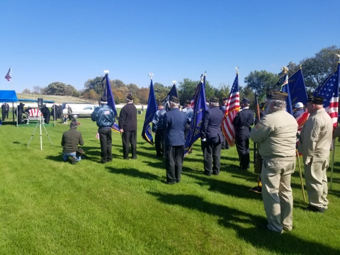 The funeral for sailor Bernard Doyle, killed at Pearl Harbor, was held Oct. 13, 2018, in Lake City, Iowa, with full military honors.