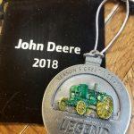 Waterloo Boy tractor 100th anniversary Christmas ornament