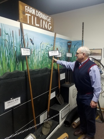 Ag Tile Drainage Exhibit in Iowa