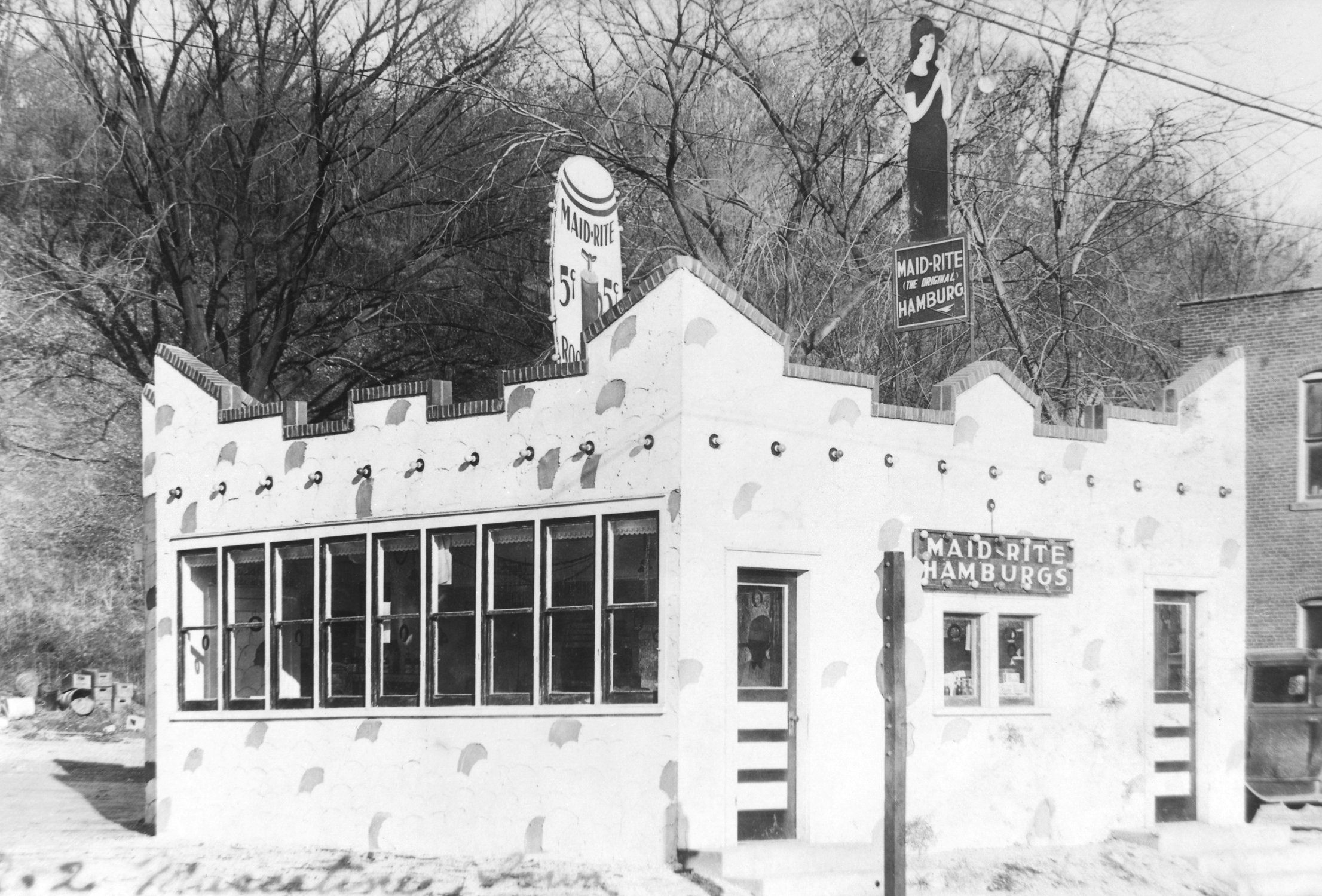 early Maid-Rite sandwich shop