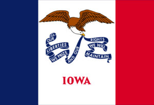 state of Iowa flag