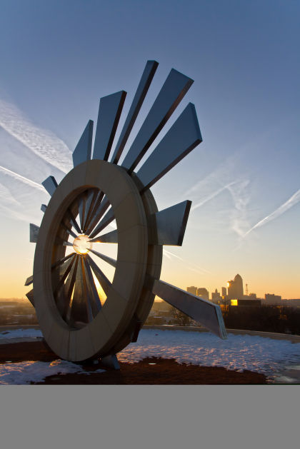 Shattering Silence sculpture Des Moines Iowa