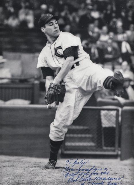 Bob Feller Cleveland Indians baseball pitcher